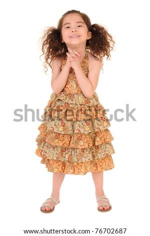 happy little girl - stock photo