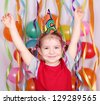 happy little girl birthday party - stock photo
