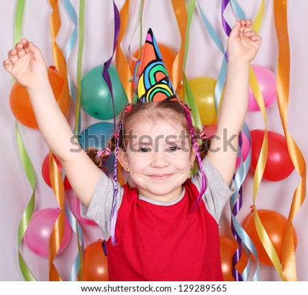 happy little girl birthday party