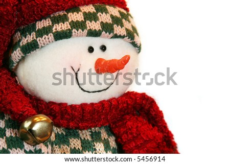 Happy little snowman - stock photo