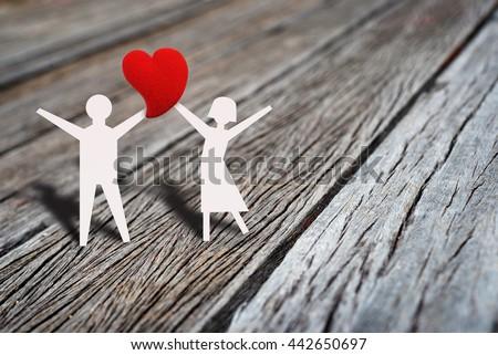 Happy Love Couple Dancing Heart Shape Stock Photo Royalty Free