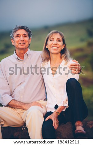 Happy loving middle aged couple - stock photo
