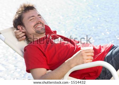 man in recliner stock images royaltyfree images