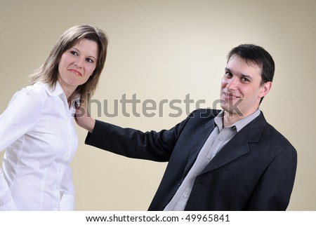 happy managers in office - stock photo