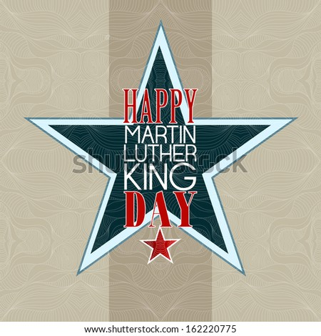 Happy Martin Luther King Day american - stock photo