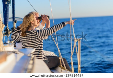 Happy Mature Couple On Vacation, Outdoors - stock photo