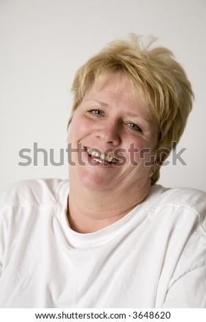 happy mature woman - stock photo