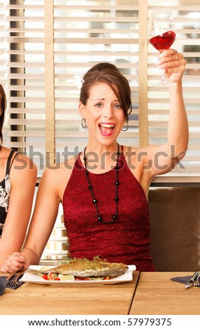 happy meal - cheers - stock photo