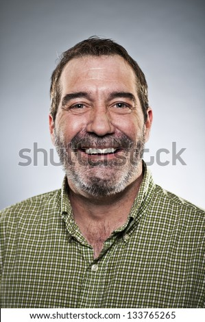 Happy Middle Aged Man Portrait - stock photo