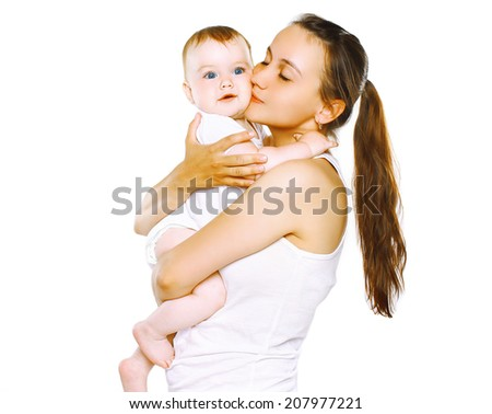 Happy mother and baby - stock photo