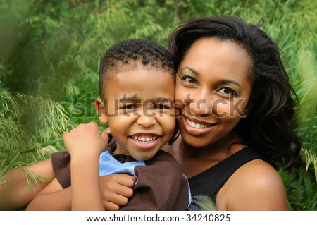 Happy  Mother and Child - stock photo