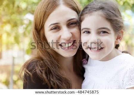 Happy Mother And Girl