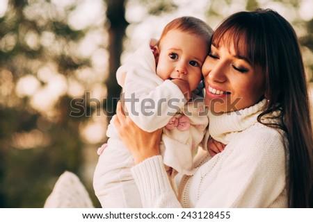 happy mother child - stock photo