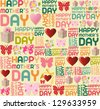 Happy mother Day seamless pattern background. - stock vector