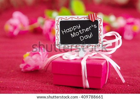 Happy mother's day gift. - stock photo