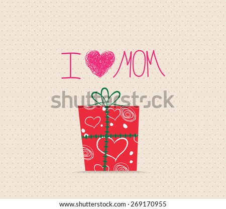 Happy Mother's Day! Greeting card.Celebration background with gift boxes - stock photo