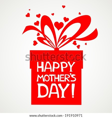 Happy Mother's Day! Greeting card. Celebration grey background with gift boxes and place for your text.  Illustration  - stock photo