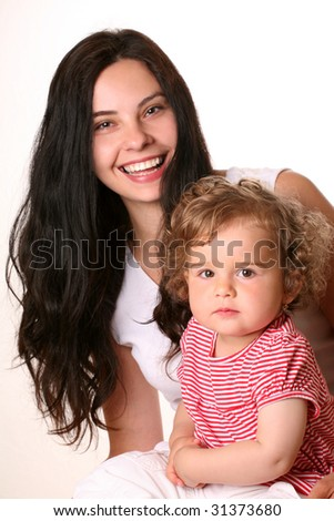 happy mother with child - stock photo