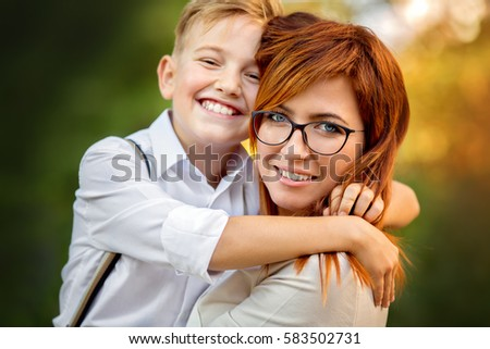 mom and teen boy stock images royalty free images