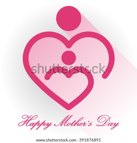 Happy Mothers Day, mother and baby icon mother baby care holding breast feed carrying heart mother baby care holding breast feed carrying heart mother baby care holding breast feed carrying heart baby - stock photo