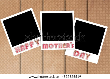 happy mothers day photo frames on designer wallpaper to preserve the memories - stock photo
