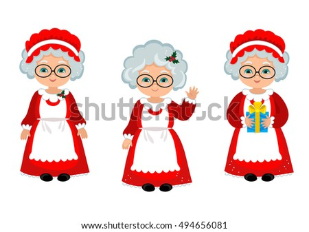 Cartoon Mrs Claus Stock Photos, Royalty-Free Images & Vectors ...