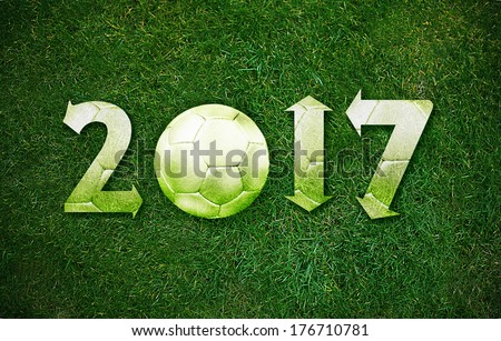 Happy new sport year 2017 with Football.