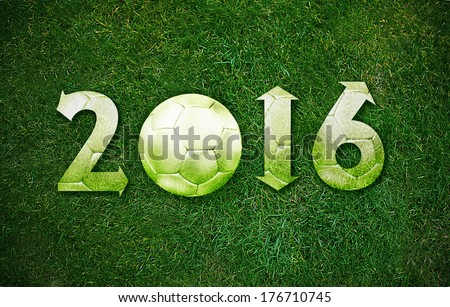 Happy new sport year 2016 with Football, the same concept available for 2017 year.