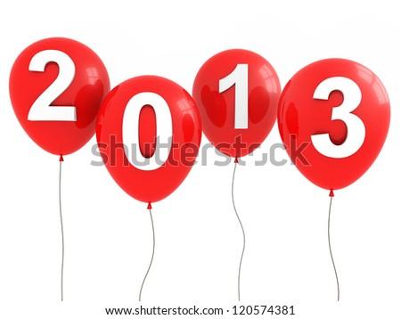 Happy New Year 2013 - stock photo