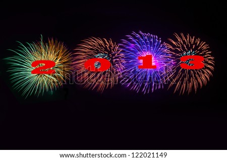 Happy New Year - 2013 - stock photo