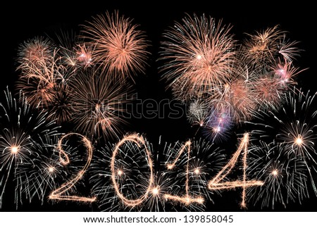 Happy New Year - 2014 - stock photo