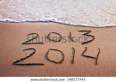 happy new year 2013 - 2014 - stock photo