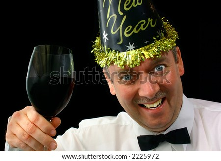 Happy New Year 2 - stock photo