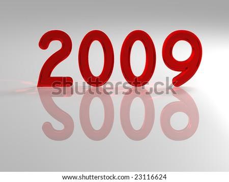 Happy New Year 2009 - stock photo