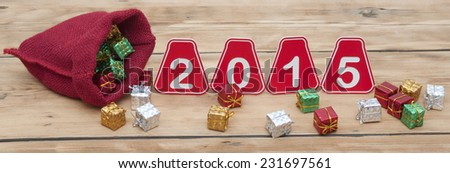 Happy new year 2015 - stock photo