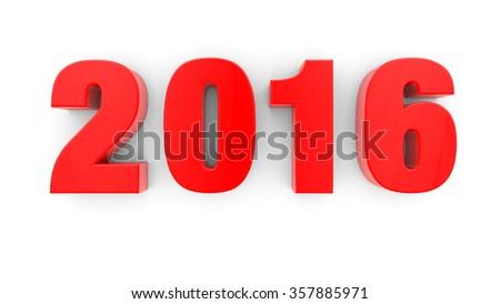 Happy New Year 2016 - stock photo