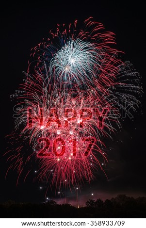 Happy New Year 2017 - stock photo