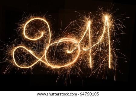 Happy New Year - 2011 - stock photo