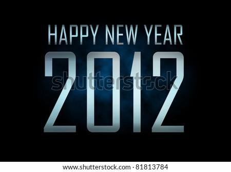 Happy new year 2012 - stock photo