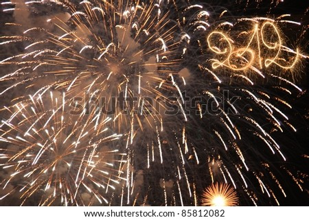 Happy New Year - 2012 - stock photo