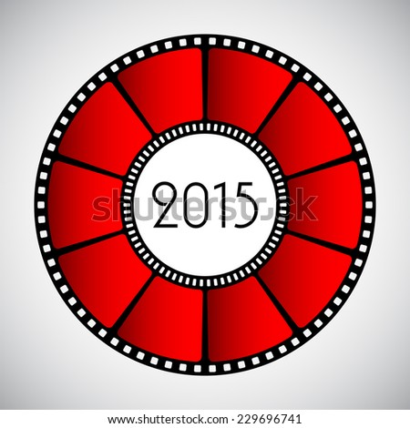 Happy New Year abstract background, 2015 - stock photo