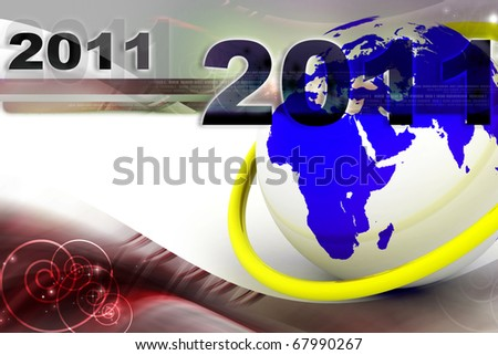 Happy New Year 2011 abstract background - stock photo