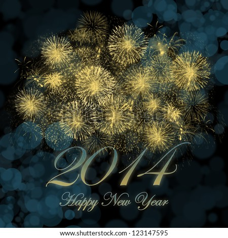 Happy New Year 2014 background image. - stock photo