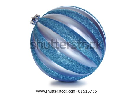 Happy New Year Background With New Year's Balls solated - stock photo