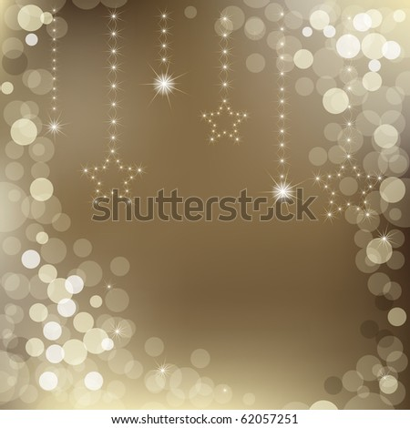 Happy New Year Background With Stars And Text - stock photo