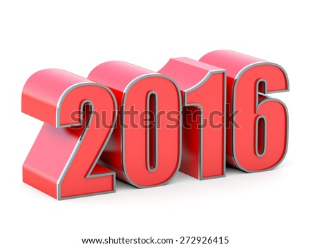 Happy New Year 2016 calendar background  - stock photo