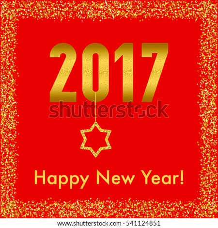 Happy new year card text 2017 stock illustration 541124851 happy new year card with text 2017 happy new year greeting card with jewish star m4hsunfo