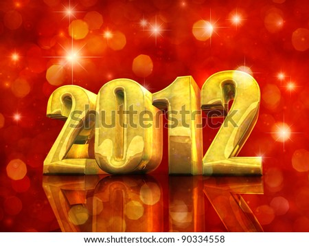 Happy 2012 , New Year celebration - stock photo