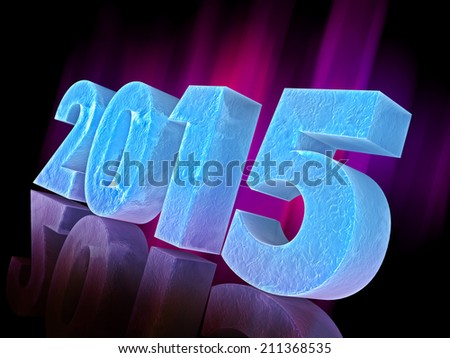 Happy New Year 2015 celebration background - stock photo
