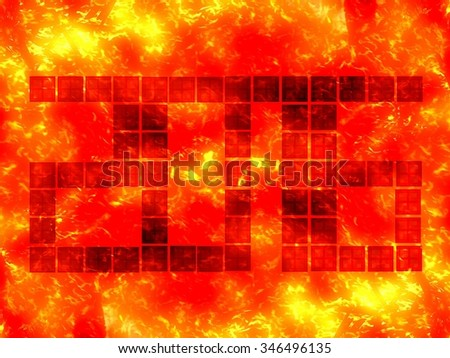 Happy new year celebration 2016 fire illustration background